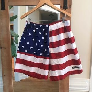 Rowdy Gentleman American Flag Swim trunks